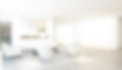 Abstract White Blur Interior background