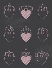 Chalkboard Swirl Hearts