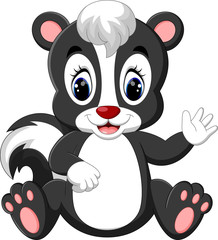 illustration of baby skunk cartoon
