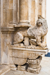 Detail Cathedral of Acquaviva, one of the most beautiful villages in Italy. Puglia - Italy
