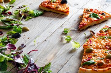 Closeup of fresh pizza
