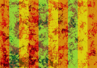 Abstract drawn grunge background in yellow colors with diagonal stripes. Banner with effect of crumpled paper with scratches, abrasion, crack. Series of Grunge, Oil, Pastel, Chalk and Inc Backgrounds.