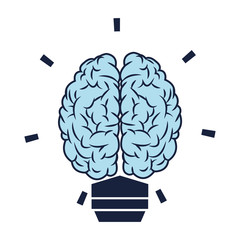 brain lightbulb icon