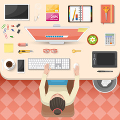 Workplace Top View Design