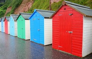 Beach huts in Seaton, Devon