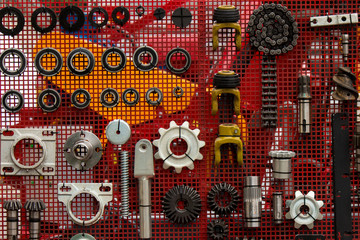 set of spare parts for agricultural machines