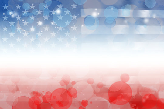 Red white and blue America flag background