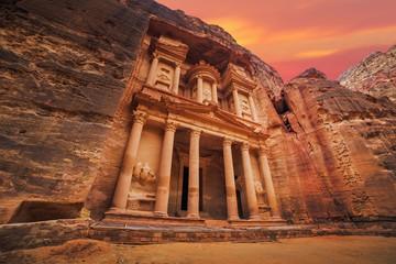 Ancient temple in Petra, Jordan Wall mural