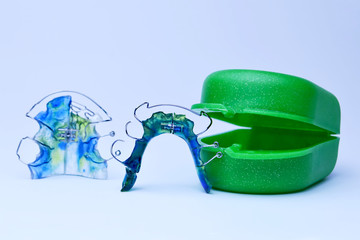 Dental retainer closeup