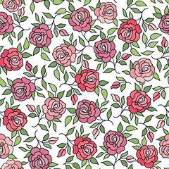 Floral seamless pattern Flower rose ornament background Flourish texture