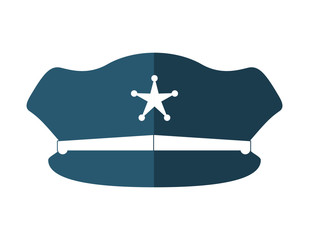 Policeman hat icon. Justice and law. vector graphic