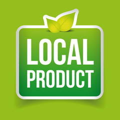 Local Product label green