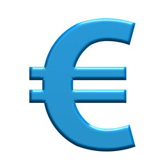 Euro sign money. 3D rendering illustration