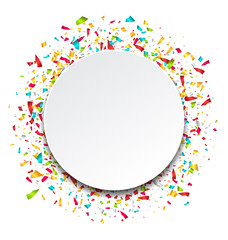 Clean Card with Colorful Explosion of Confetti