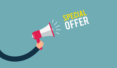 Special Offer Concept Flat design vector business illustration -  Digital marketing