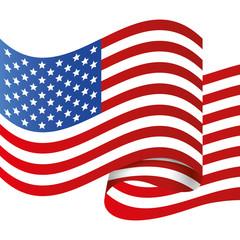 Flaf icon. USA design. vector graphic