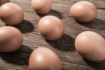 Fresh hen eggs.