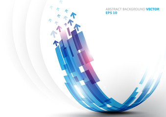 Abstract blue curve line shape background vector design