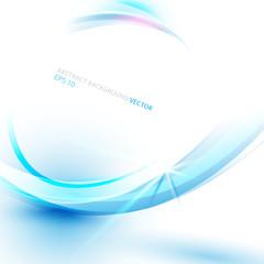 Blue abstract technology backround. Line curve concept vector de