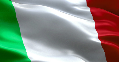 waving texture of the flag of italy