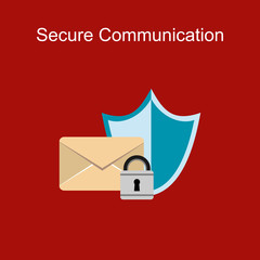 Secure communication concept illustration. Data protection.