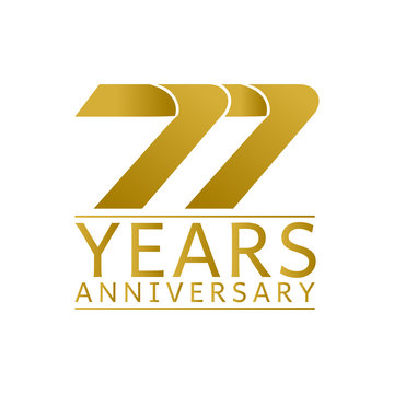 Simple Gold Anniversary Logo Vector Year 99
