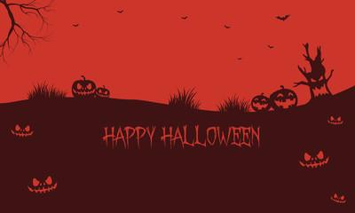 Pumpkins backgrounds Halloween silhouette