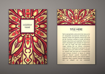 Flyer with Floral mandala pattern