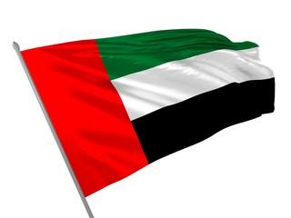 Flag of United Arab Emirates waving in the wind