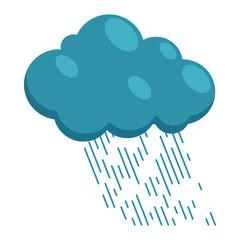 Heavy rain icon in cartoon style