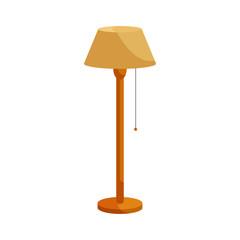 Floor lamp icon, cartoon style