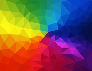 Vector abstract colorful triangles background