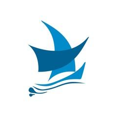 Symbol logo yacht icon transportation tools sailboat nautical
