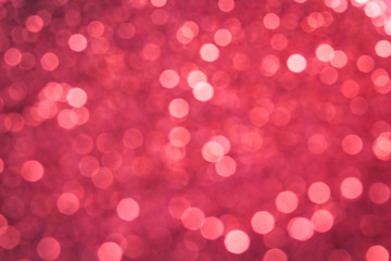 Pink glittering bokeh abstract background