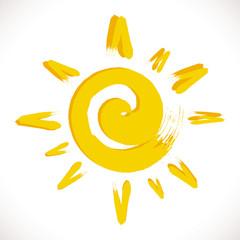 soleil jaune symbole rayon fun