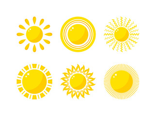 Vector sun icon isolated