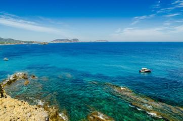 Ibiza, Espagne, Baléares, mer et bateaux