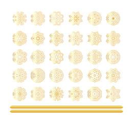 Oriental  gold pattern set