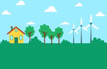 Wind energy eco friendly environment design