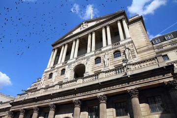 Bank of England with ominous birds