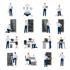 System Administrator Icons Set