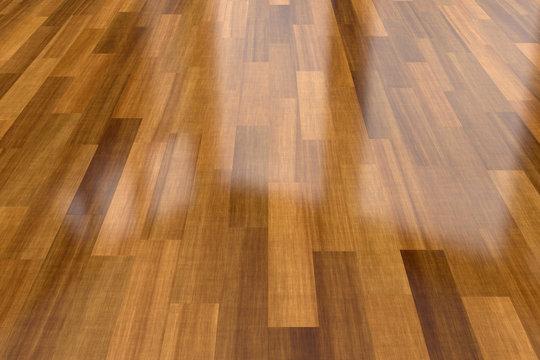 Dark wood parquet floor, background