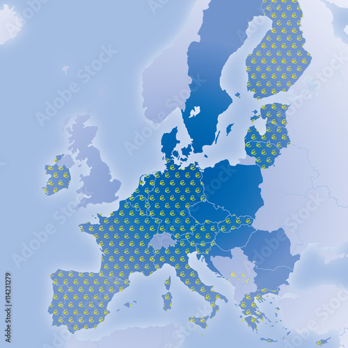 europa karte nach brexit eu und euro l nder nach austritt gro britanniens stock image and. Black Bedroom Furniture Sets. Home Design Ideas