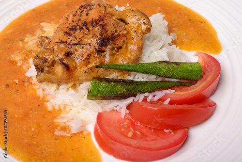 "Chicken Stew with Rice, Okra and Tomatoes"" Stockfotos und lizenzfreie ..."