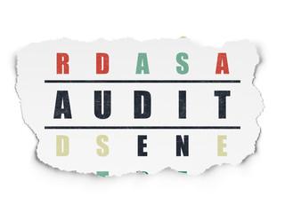 Business concept: Audit in Crossword Puzzle