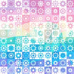 blue pink pattern