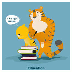 Education is superpower to success,vector,illustration