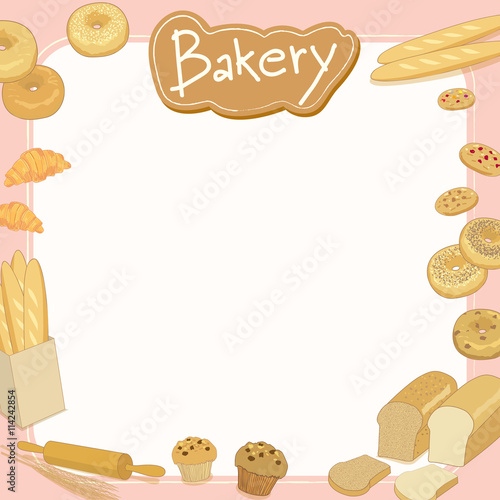 Quot Menu Template Design Vector Illustration Bakery Cafe Shop