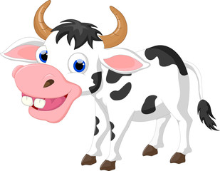 cute cartoon cow for you design
