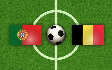 fußball football scoccer Portugal vs Belgium